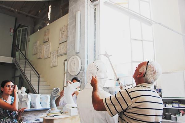 italy overnight tours touring a marble artisan studio