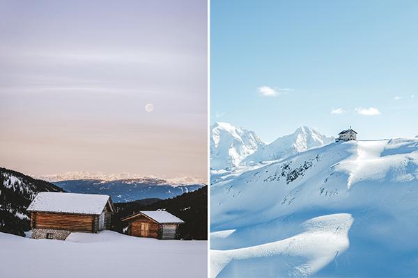 Italy in Winter in the dolomites