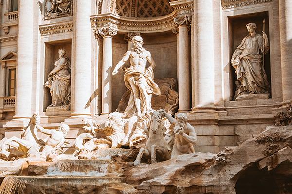 Trevi Fountain lavish statues